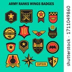 us army badges patches and... | Shutterstock .eps vector #1711049860