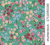 blooming midsummer meadow...   Shutterstock .eps vector #1711050100