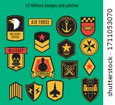 military badges us army patches ... | Shutterstock .eps vector #1711053070