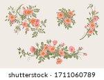 wild roses. botanical floral... | Shutterstock .eps vector #1711060789