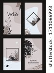style set of abstract floral... | Shutterstock .eps vector #1711066993