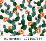 beautiful seamless vector... | Shutterstock .eps vector #1711067959