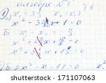 handwriting test paper on... | Shutterstock . vector #171107063