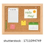 Hello  May. Cork Board With To...