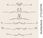vector set  calligraphic design ... | Shutterstock .eps vector #171110744