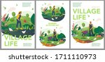 vector spring and summer... | Shutterstock .eps vector #1711110973