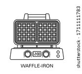 waffle iron outline icon in... | Shutterstock .eps vector #1711111783