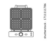 waffle iron outline icon in... | Shutterstock .eps vector #1711111786