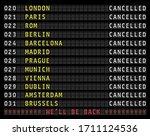 flight information display...   Shutterstock .eps vector #1711124536