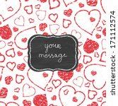 vector chalkboard red art... | Shutterstock .eps vector #171112574