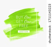 buy 1 get 1 free. sale sign... | Shutterstock .eps vector #1711143223