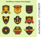 set of military insignia ... | Shutterstock .eps vector #1711148239