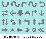 arrow set  stylish and elegant... | Shutterstock .eps vector #1711167130
