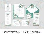 wedding invitation  floral...   Shutterstock .eps vector #1711168489