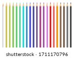 colored pencils vector design... | Shutterstock .eps vector #1711170796