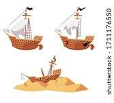 Pirate Ship Wreck Process Set ...