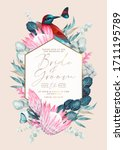 vector vintage card with... | Shutterstock .eps vector #1711195789