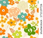floral seamless pattern   Shutterstock .eps vector #171119726