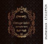 elegant vintage frame with...   Shutterstock .eps vector #171119924
