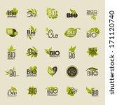 bio product. set of vector... | Shutterstock .eps vector #171120740
