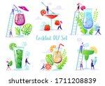 vector illustration with flat... | Shutterstock .eps vector #1711208839