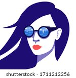 retro style poster with close... | Shutterstock .eps vector #1711212256