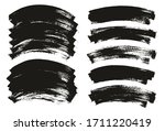 flat paint brush thin curved... | Shutterstock .eps vector #1711220419
