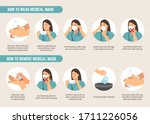 how to wear and remove medical... | Shutterstock .eps vector #1711226056