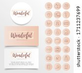 feminine highlight minimalist... | Shutterstock .eps vector #1711237699