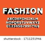 vector modern 3d font with long ... | Shutterstock .eps vector #1711251946