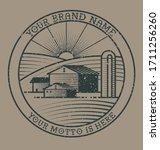 Farm Logo Stamp Imprint...