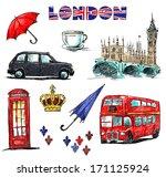london symbols. set of drawings. | Shutterstock . vector #171125924