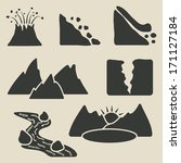 set of mountains icons   vector ... | Shutterstock .eps vector #171127184