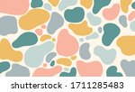 abstract organic shapes pastel... | Shutterstock .eps vector #1711285483