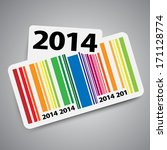Year 2014 Sticker With Color...