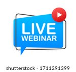 live webinar button  icon ... | Shutterstock .eps vector #1711291399
