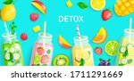 bright detox background with... | Shutterstock .eps vector #1711291669