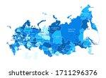 russia map. cities regions... | Shutterstock .eps vector #1711296376