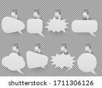 wobbler speech bubbles mockup... | Shutterstock .eps vector #1711306126