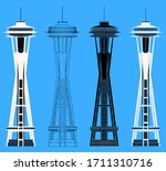 Seatle Tower In Front View