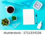 home office workplace with cup...   Shutterstock . vector #1711319236