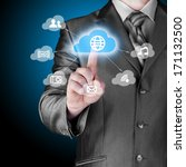 cloud computing touchscreen... | Shutterstock . vector #171132500