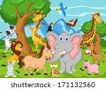 funny animal cartoon  | Shutterstock .eps vector #171132560