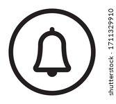 bell icon vector. notification... | Shutterstock .eps vector #1711329910