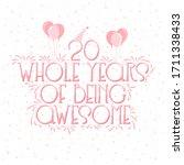 26 years birthday and 26 years...   Shutterstock .eps vector #1711338433