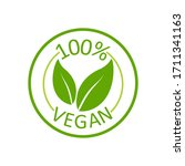 vegan 100   great design for... | Shutterstock .eps vector #1711341163