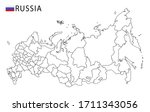 russia map  black and white... | Shutterstock .eps vector #1711343056