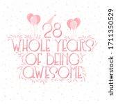 28 years birthday and 28 years...   Shutterstock .eps vector #1711350529