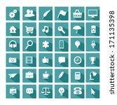 universal flat icon set   Shutterstock .eps vector #171135398