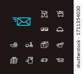 logistics icons set. global...